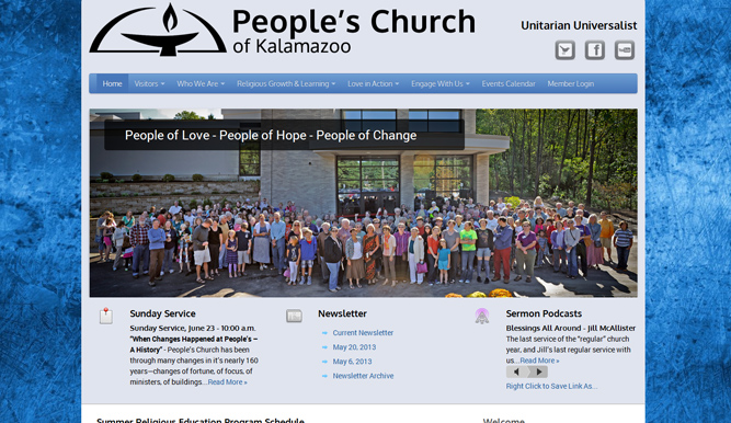 People's Church of Kalamazoo Main Website